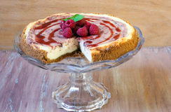 Raspberry swirl cheesecake Royalty Free Stock Photo