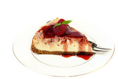 Raspberry swirl cheesecake Stock Images