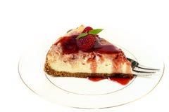 Raspberry swirl cheesecake Stock Images