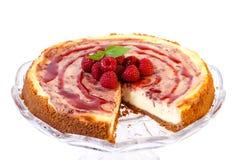 Raspberry swirl cheesecake Stock Photography
