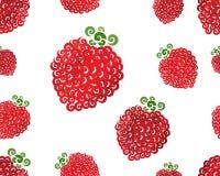 Raspberry swirl seamless Royalty Free Stock Photos