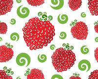 Raspberry swirl seamless Stock Images