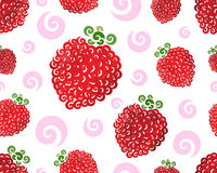 Raspberry swirl seamless Stock Image