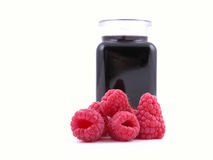 Raspberry syrup Royalty Free Stock Photography