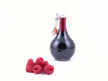 Raspberry syrup Stock Photo