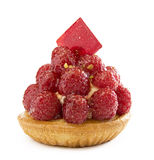 Raspberry Tart Stock Photography