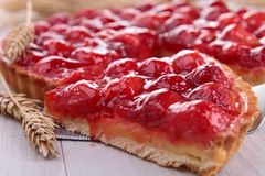 Raspberry tart Stock Photos