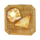 Raspberry tart and cheese danish Royalty Free Stock Photos