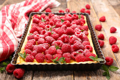 Raspberry tart Royalty Free Stock Images