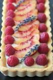 Raspberry Tart Stock Photo