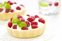 Raspberry tart Stock Photos
