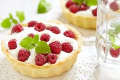 Raspberry tart Royalty Free Stock Image