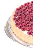 Raspberry Tart isolated on white. Raspberry Tart on a plate isolated on white background Stock Images