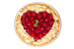 Raspberry tart - valentines day Stock Images