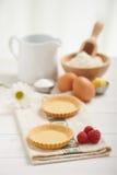 Raspberry tart preparation Stock Images
