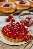 Raspberry tart. Selective focus Royalty Free Stock Photography