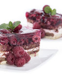 Raspberry Tart  on white Royalty Free Stock Images