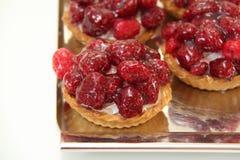 Raspberry tartlet stock photo