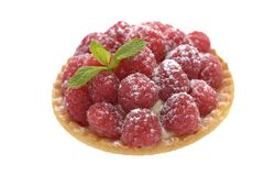 Raspberry tartlet Stock Photos