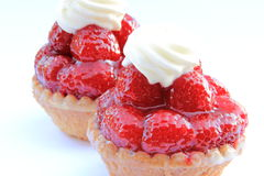 Raspberry tartlets Stock Images