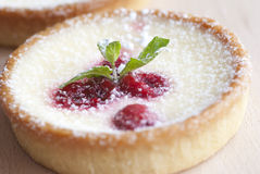 Raspberry Tarts Stock Photography