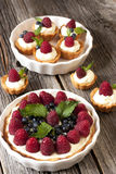 Raspberry tarts Royalty Free Stock Photos