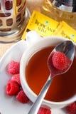Raspberry tea. Serve in hot Royalty Free Stock Photos