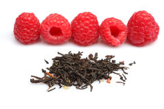 Raspberry and tea Stock Image