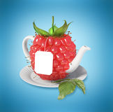 Raspberry tea cup. Healthy food. Raspberry drink Stock Photos