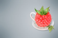 Raspberry tea cup Royalty Free Stock Image