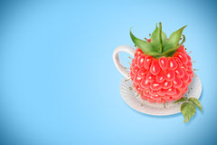 Raspberry tea cup Royalty Free Stock Photography
