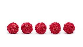 Raspberry truffles Stock Image