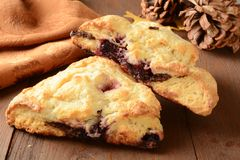 Raspberry turnovers Stock Photography