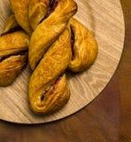 Raspberry twist pastries Stock Images