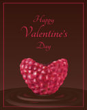Raspberry valentine card Stock Photography