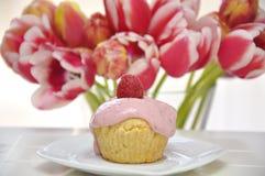 Raspberry Vanilla Cupcake Royalty Free Stock Photo