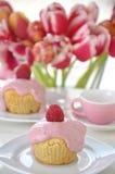 Raspberry Vanilla Cupcake Royalty Free Stock Photos