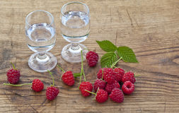 Raspberry vodka Royalty Free Stock Photography