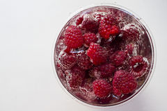 Raspberry in water Stock Images