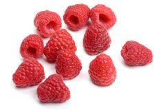 Raspberry on white Stock Photos