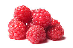 Raspberry  on white Stock Photos