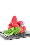Raspberry. On white background Stock Photography