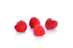 Raspberry  on white background. Raspberry  on a white background Stock Image