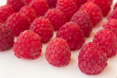 Raspberry on a white background closeup. Raspberry on a white background close up Stock Photography