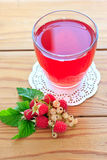 Raspberry and white currants compote Royalty Free Stock Photos