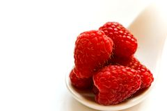 Raspberry on white Stock Photo