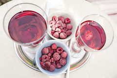 Raspberry Wine Stock Photos