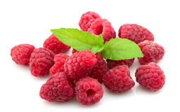 Raspberry With Fresh Mint Royalty Free Stock Photo