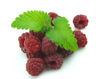 Raspberry With Mint Stock Photography