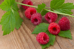 Raspberry on wooden background Royalty Free Stock Image